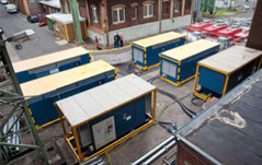 RWE Power AG use six AERZEN screw compressors for external compressed-air emergency supply